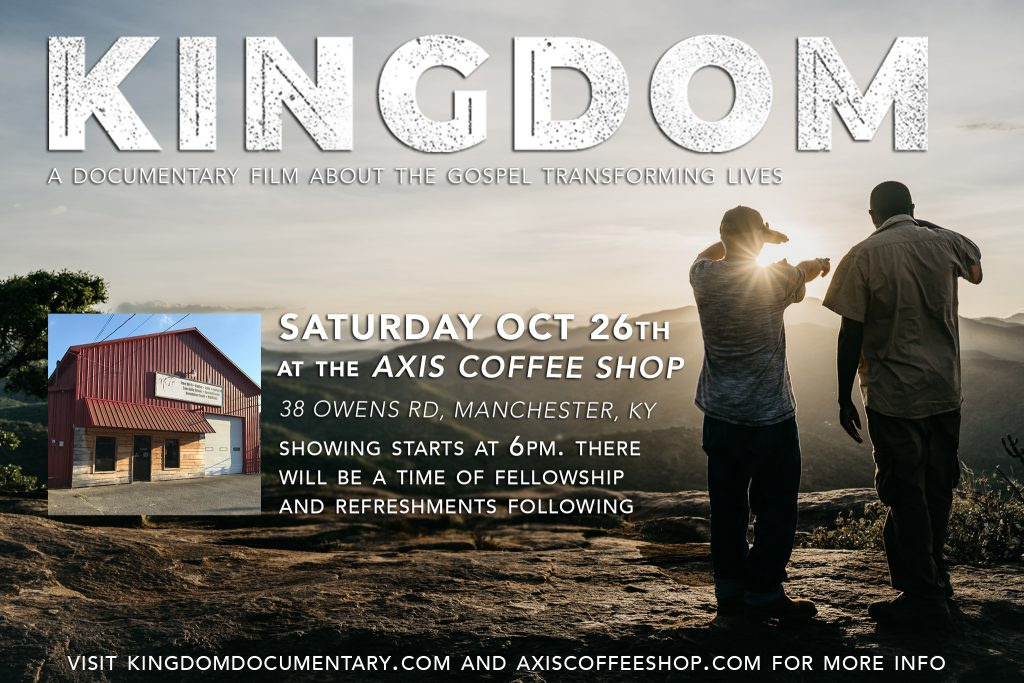 """Watch the """"Kingdom"""" Documentary at Axis Coffee Shop @ Axis Coffee Shop"""
